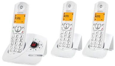 Téléphone sans fil numérique avec répondeur Alcatel Versatis F370 Voice trio (Avec ODR 10€) / Via Buyster