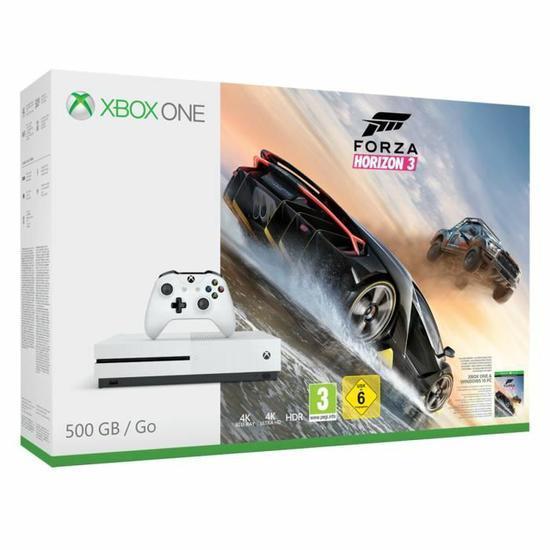 1 pack Xbox One S acheté parmi la sélection = 50% remboursés en 2 bons d'achat - Ex : Console Xbox One S 500 Go - Forza Horizon 3 + 2 bons d'achats de 72.25€