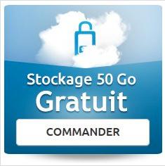 50 Go d'espace de stockage gratuit et sécurisé