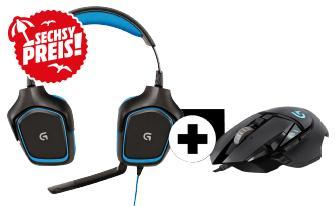 Pack Gaming Logitech - Souris G502 Proteus Spectrum + Casque-micro G430 - Noir
