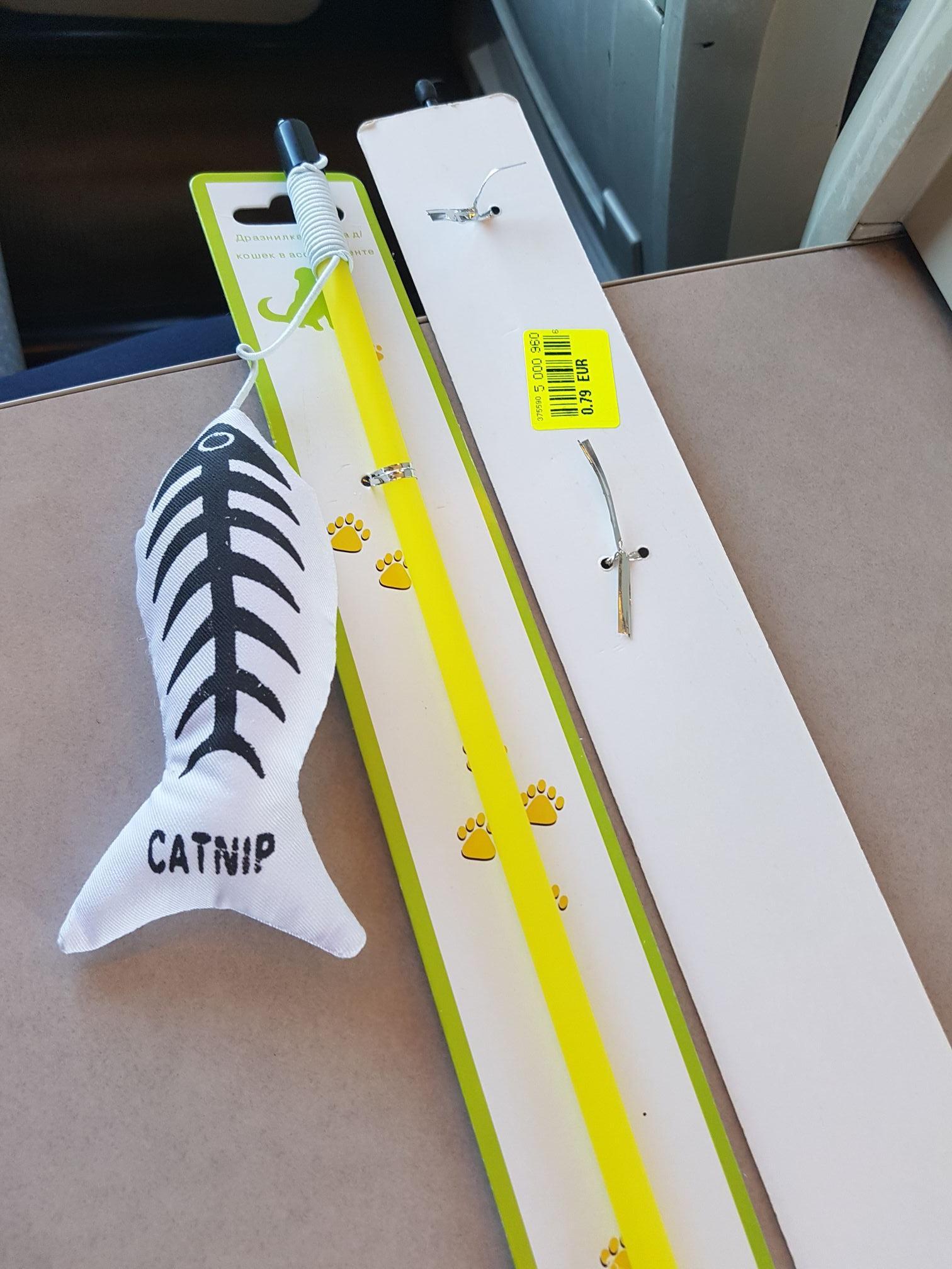 Jouet pour chat canne à pêche Catnip