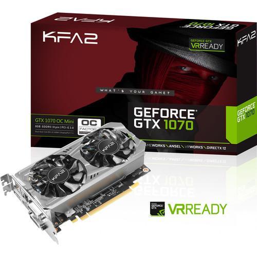 Carte graphique KFA2 GeForce GTX-1070 OC Mini - 8 Go