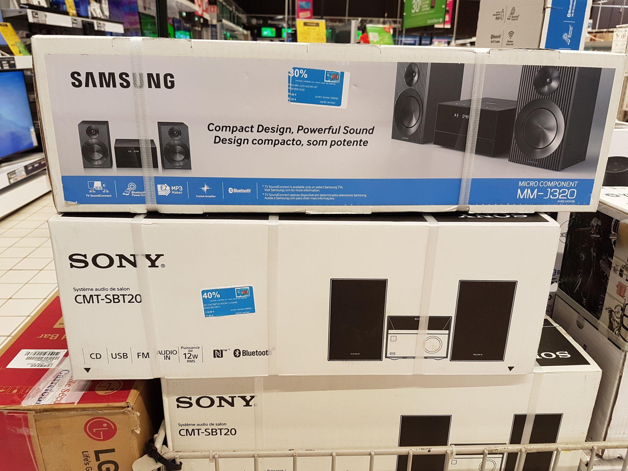 Micro chaîne Samsung MM-J320/ZF - USB/CD/Bluetooth, 20 W, Noir