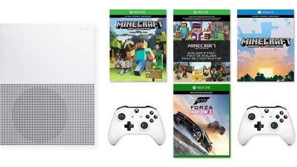 Pack Console Microsoft Xbox One S Minecraft 500 Go + Forza Horizon 3 + 2ème manette