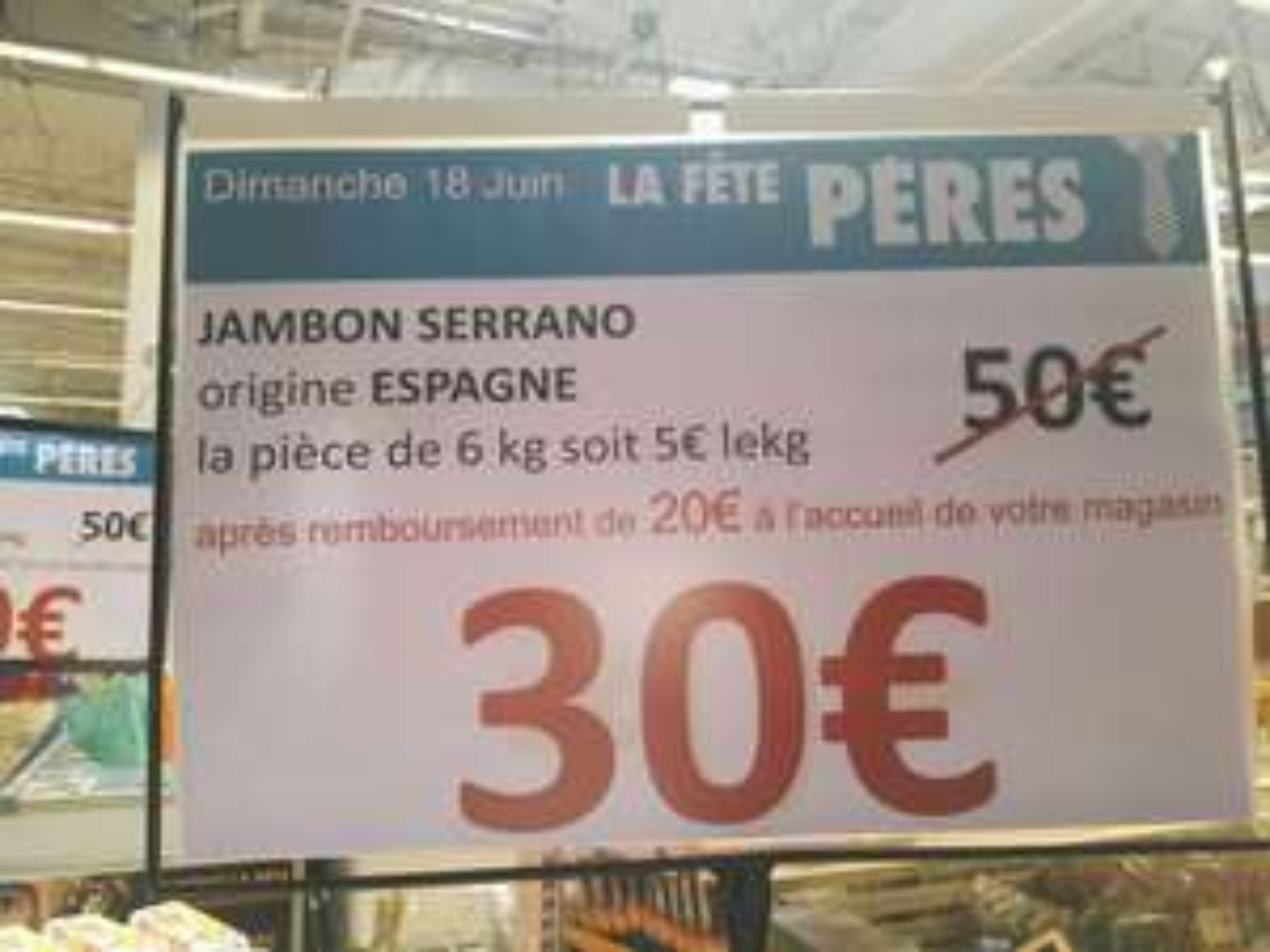 Jambon Serrano 6kg