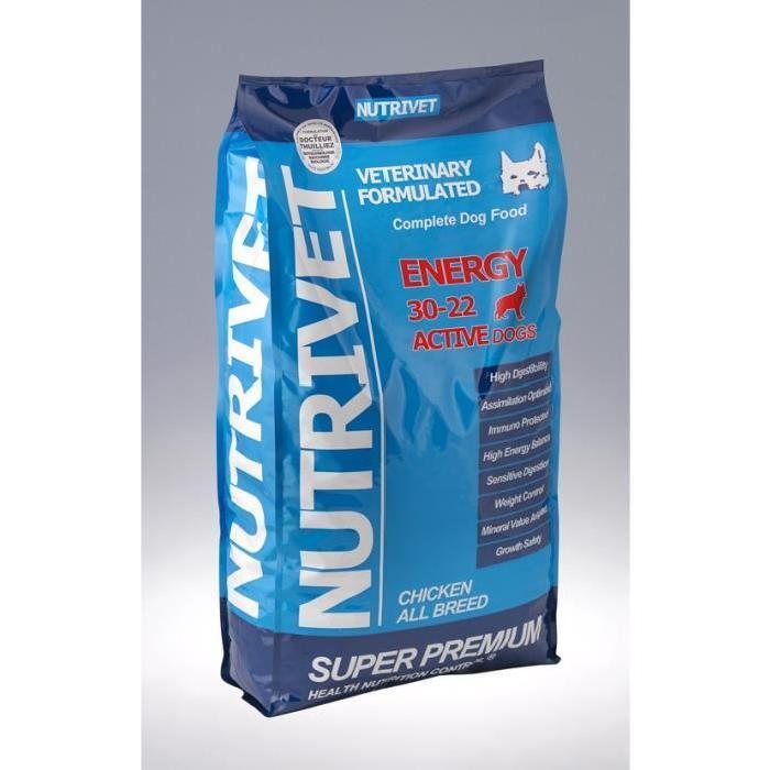 [Cdiscount à volonté] Croquettes pour chiens adultes Nutrivet Super Premium - Sans blé, 15kg