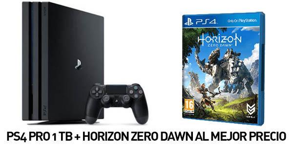 Console PS4 Pro 1 To + Uncharted 4 ou Horizon Zero Dawn