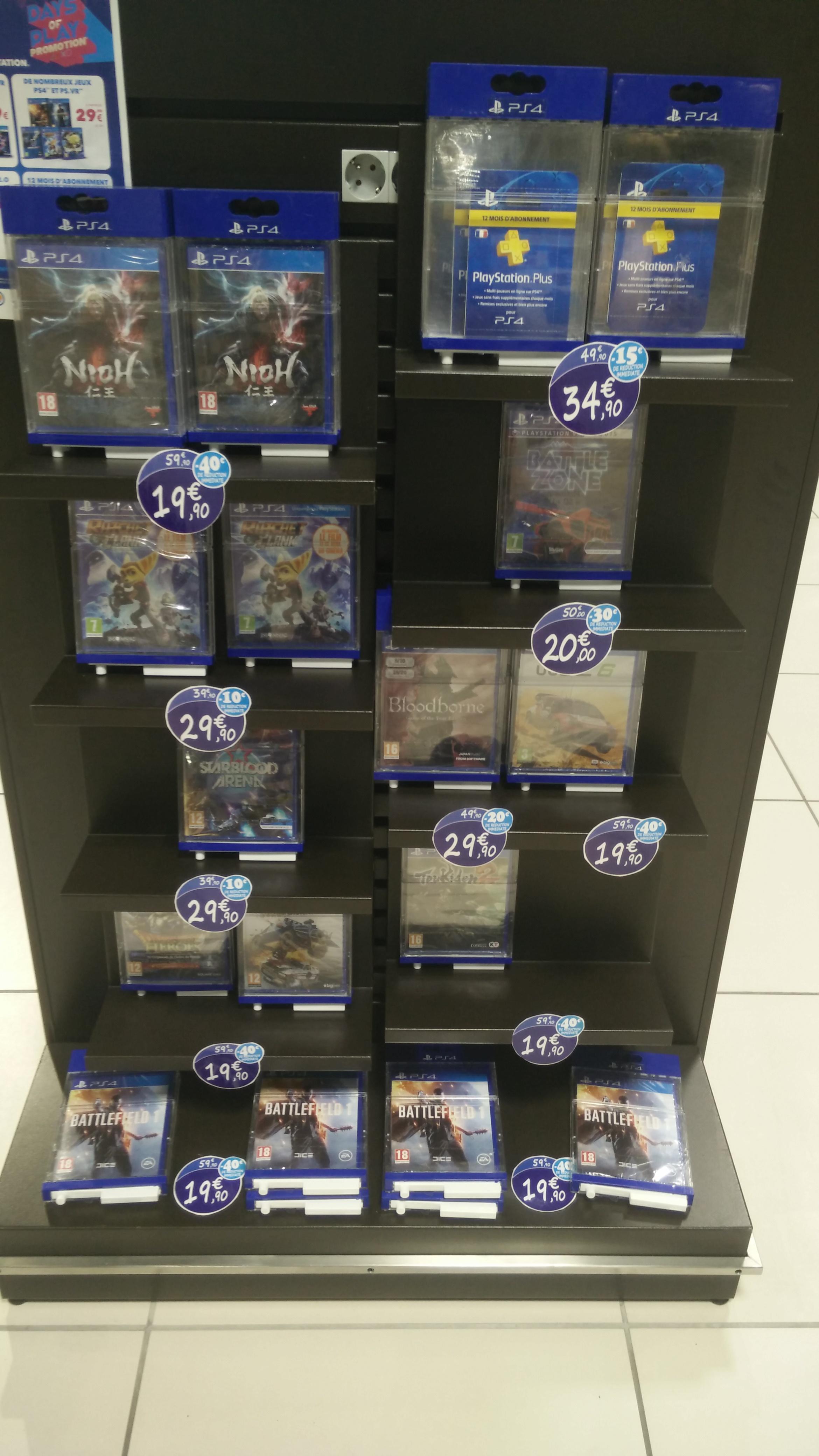 Sélection de jeux PS4 en promotion - Ex : Jeux Nioh, Battlefield 1, ... sur PS4
