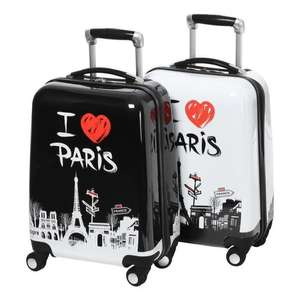 "Set de 2 valises cabine City Bag ""I Love Paris"" - 48cm"