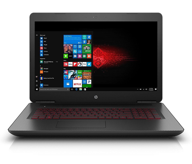 "PC portable 17"" HP Omen 17-W202NF - i5-7300HQ, 8 Go RAM, 1 To + 128 Go SSD, GeForce GTX 1050, Windows 10"