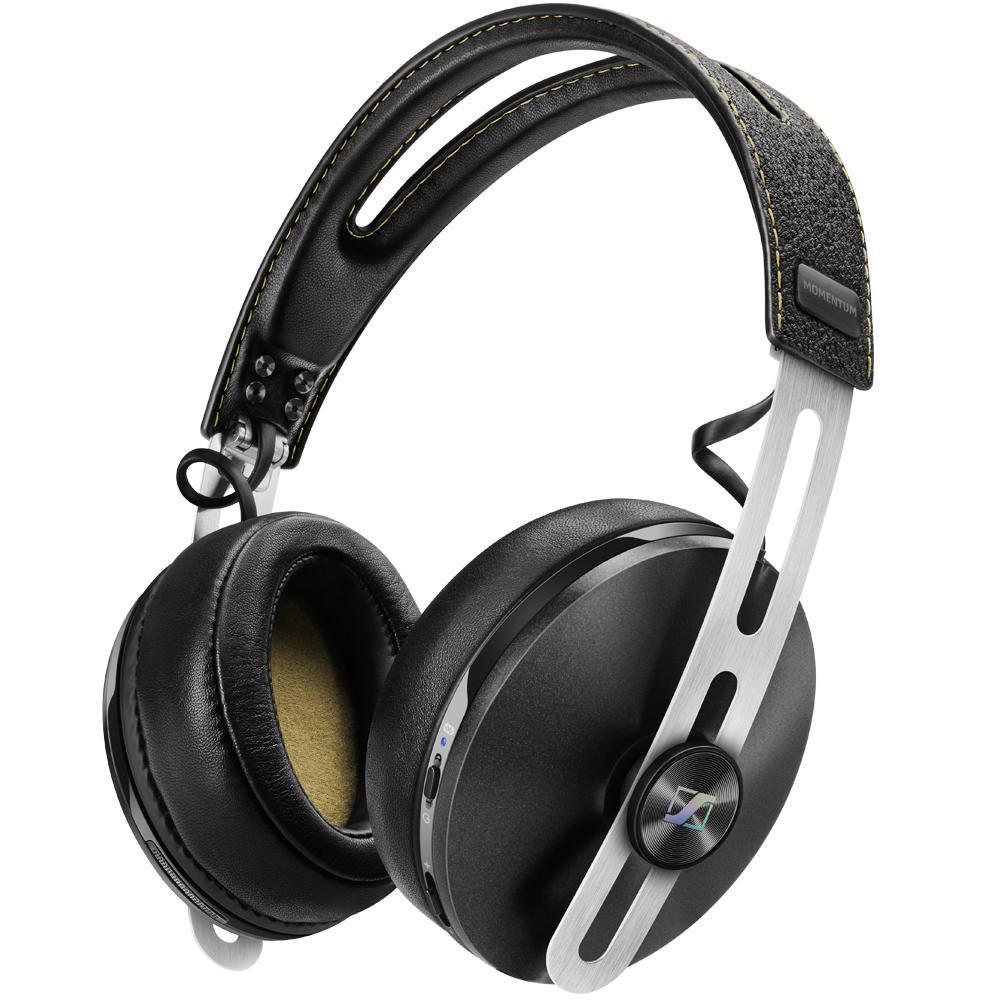 Casque Audio Sans-fil Circum-Aural Sennheiser Momentum 2.0 Over Head Wireless Ivoire/Noir - Bluetooth / NFC