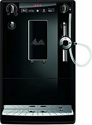 Melitta Machine à Café Automatique, Auto Cappuccinatore, Caffeo Solo & Perfect Milk, Noir/Noir, E957-204