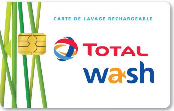 """Carte de lavage Auto """"Total Wash"""" rechargeable créditée de 40€"""