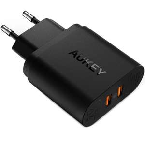 Chargeur Secteur Aukey  - 2 ports USB  Quick Charge 3.0  39W