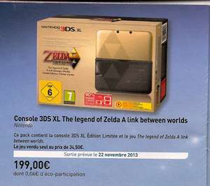 Console Nintendo 3DS XL The Legend Of Zelda A Link Between Worlds