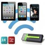 Clé USB Maxell Air Stash avec lecteur de carte SD et module Wi-Fi intégré - 16 Go