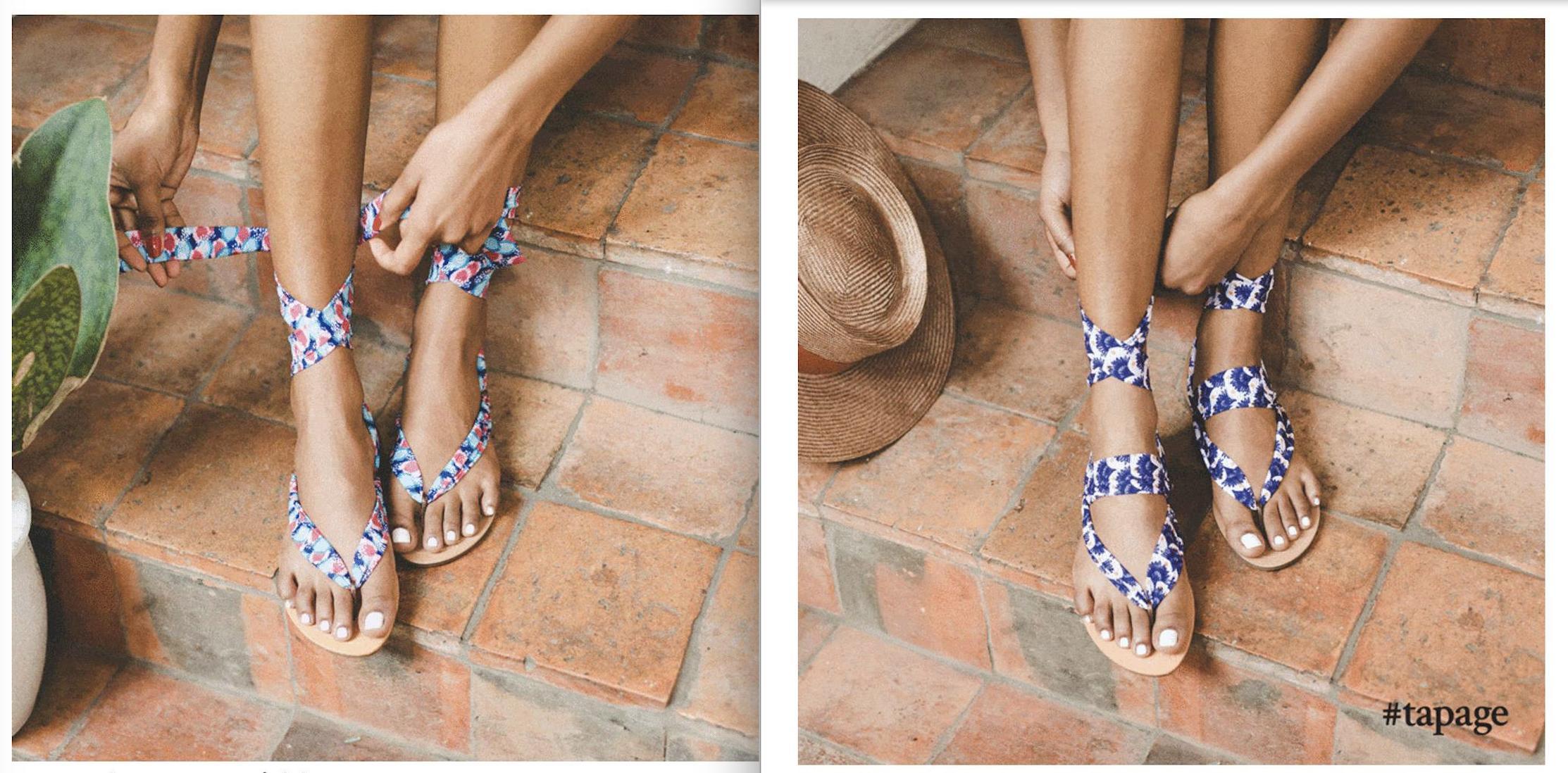 Une paire de sandales offerte pour toute souscription à un abonnement