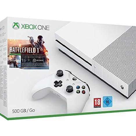 Sélection de packs Xbox One S en promotion - Ex : Console Xbox One S (500 Go) + Battlefield 1 ou Forza Horizon 3 ou Minecraft