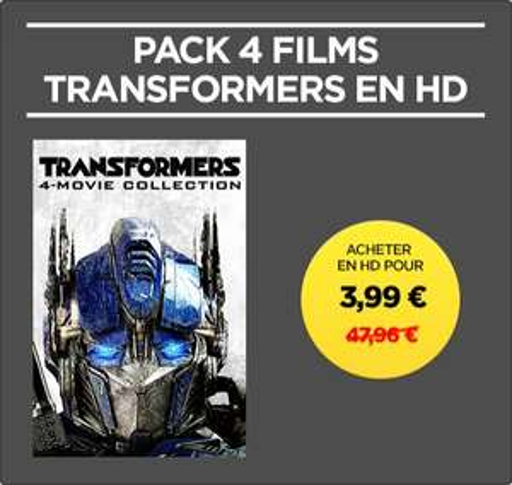 Pack de 4 Films Transformers en HD (Dématérialisé)