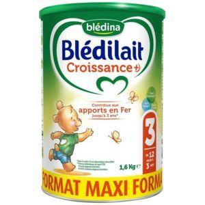 Boîte de Blédilait Croissance 3 dès 12 mois - 1.6kg (via 3€ en Bon d'achat)