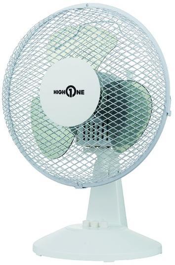 Ventilateur de Table High One HO-F23 Blanc - 25W
