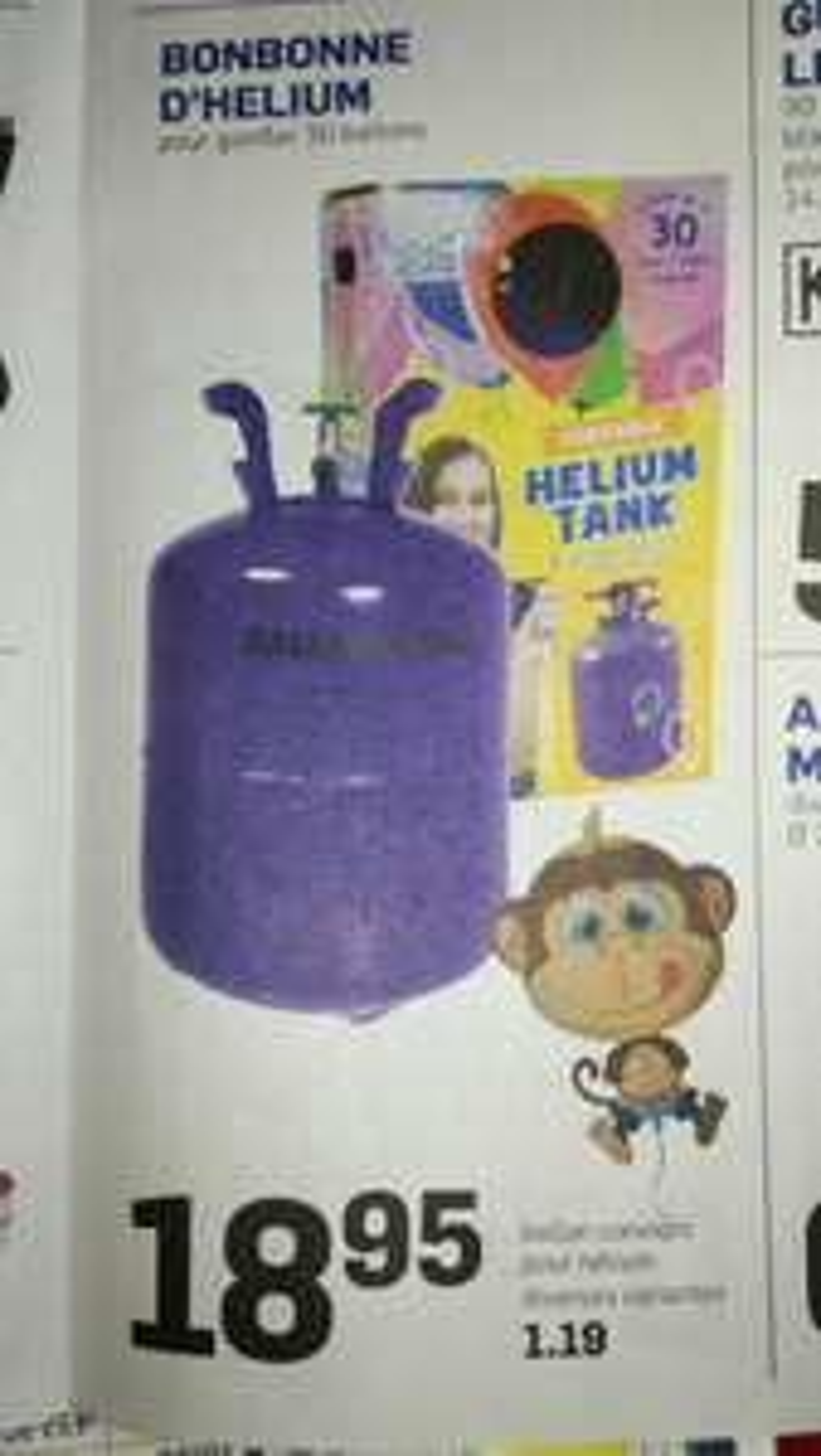 Bonbonne d'helium