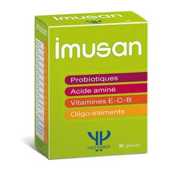 Boite de vitamines Imusan (30 gélules) + 1 serum hydratation intense  ou capsule de bronzage