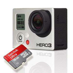 Go Pro Hero 3 Black Edition + Carte SD 16 Go Sandisk