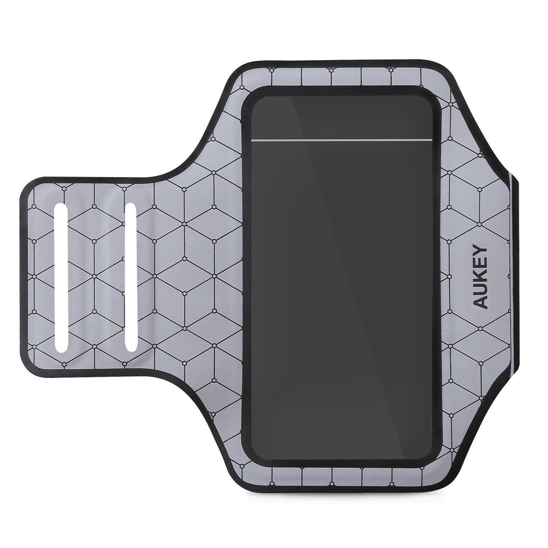 """[Panier Plus] Brassard de sport pour smartphone moins de 4.7"""" Aukey PC-T8 - argent"""