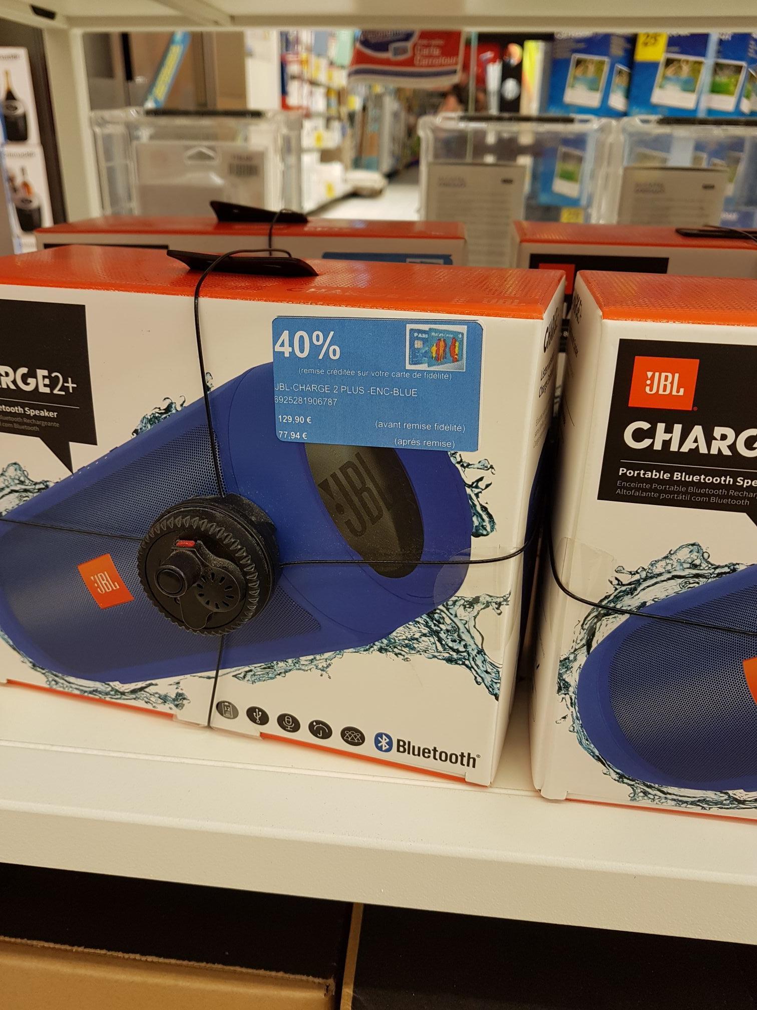 Enceinte portable Jbl Charge 2+ Bleue (via 51.69€ fidélité)