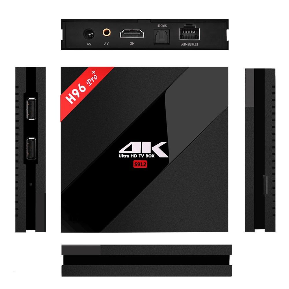 Box TV H96 PRO+ - 4K , Android 7.1, Amlogic S912 , RAM 3 Go, ROM 16 Go