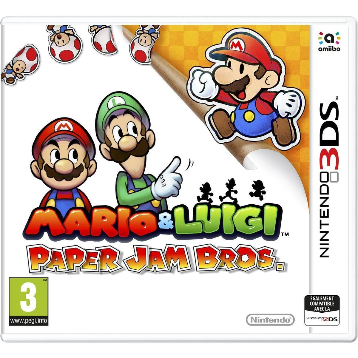 Sélection de jeux 3DS en promotion - Ex : Mario & Luigi : Paper Jam Bros sur Nintendo 3DS
