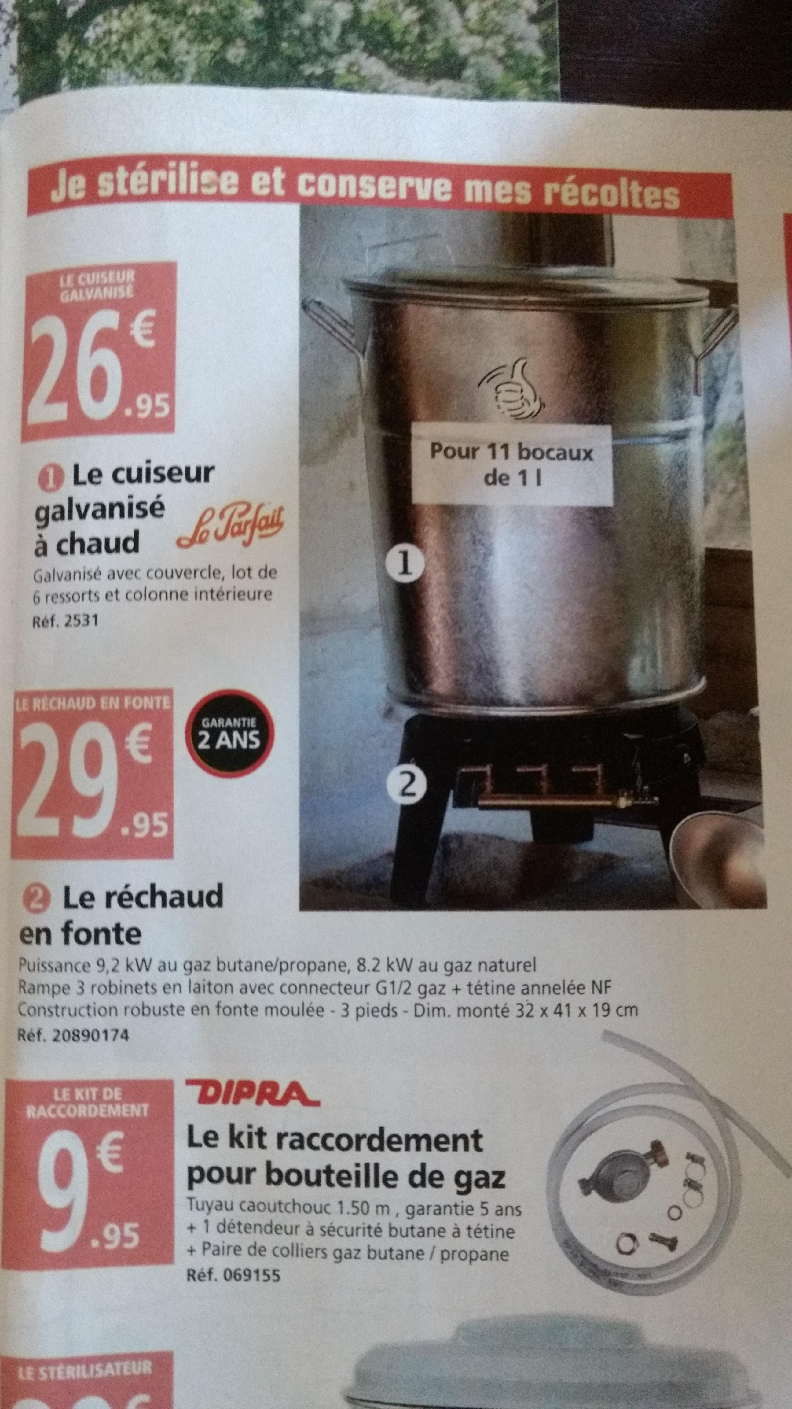 Stérilisateur Le Parfait - 11 bocaux 1L