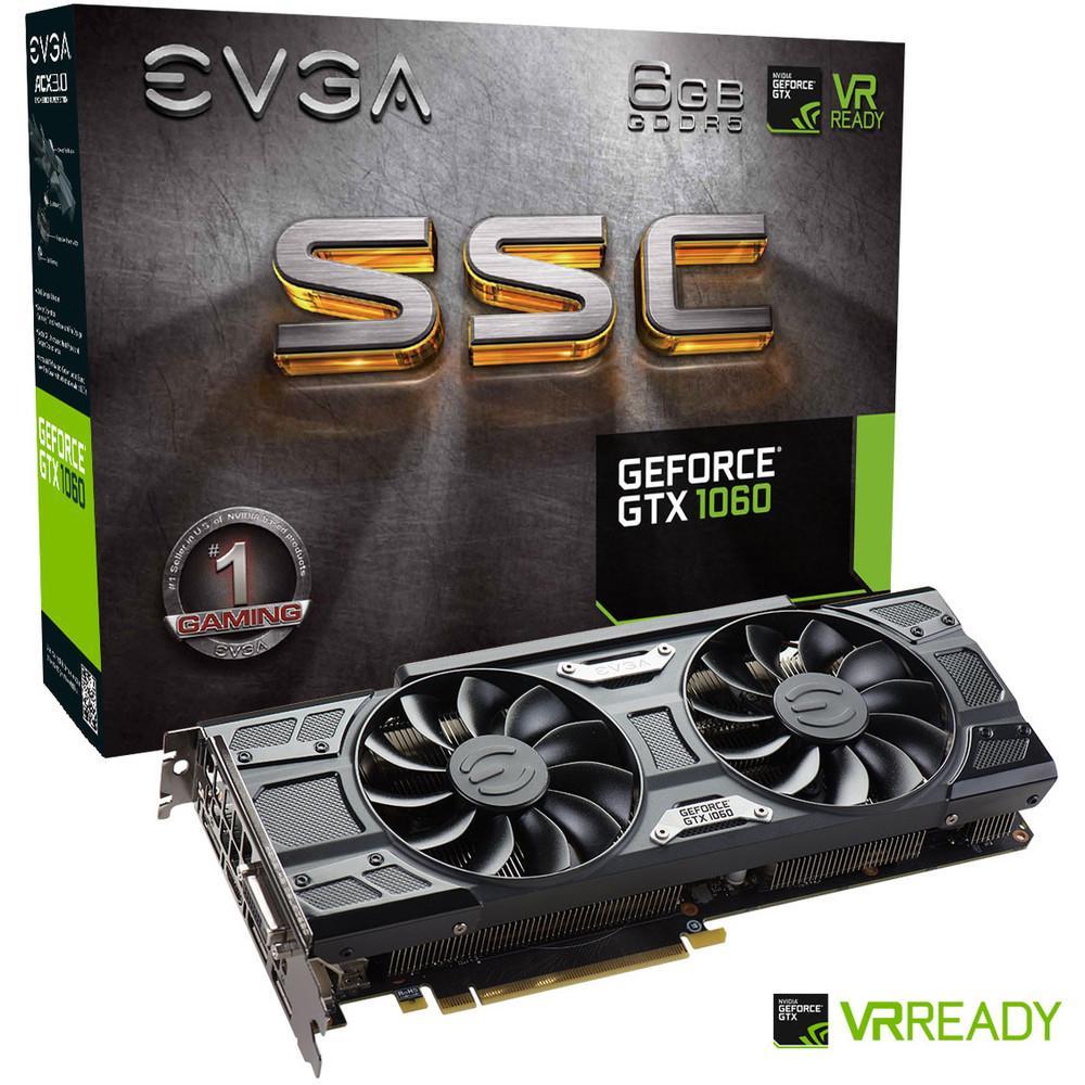 EVGA GeForce GTX 1060 SSC GAMING ACX 3.0, 6 Go + Rocket League offert