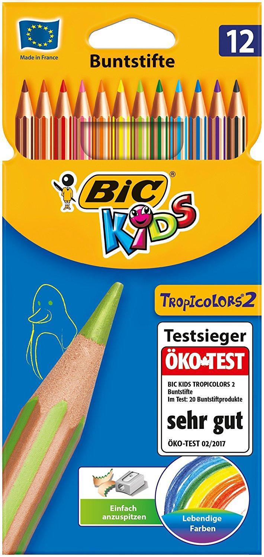 [Panier Plus] Lot de 12 Crayons Couleurs Bic