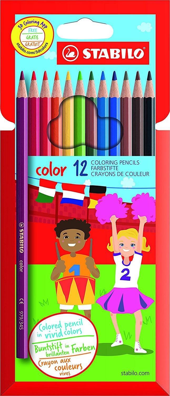 [Panier plus] 12 crayons de couleur Stabilo Color