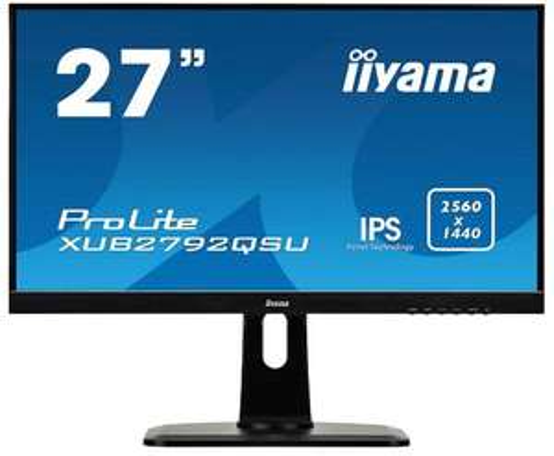 "Ecran PC LED 27"" 'Iiyama xub2792qsu-B1/27ips - IPS EDGE, 2560 x 1440, 5ms"