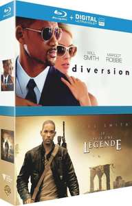 Coffret Combo Blu-ray (ou DVD) et Copie Digiale Will Smith - Diversion + Je suis une légende