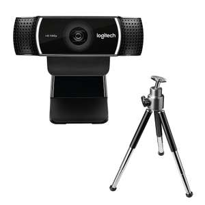 Webcam Logitech C922 Pro Stream + Trépied ajustable, Noir