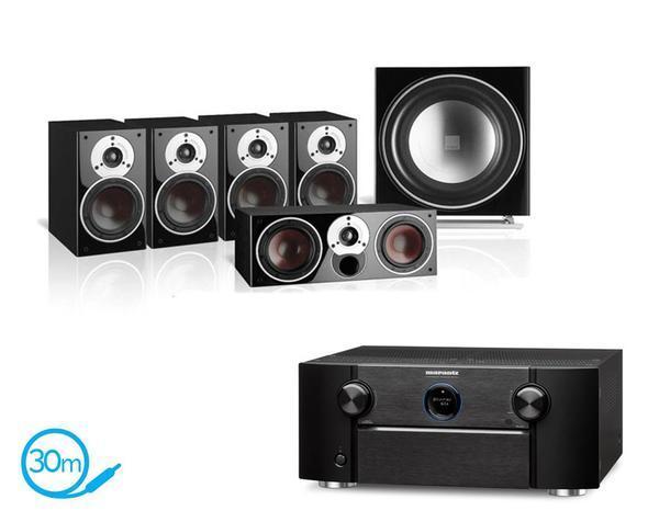 Système audio 5.1 - ampli HC Marantz SR-7011 + 2 paires d'enceintes bibliothèque Dali Zensor 1 + enceinte centrale Dali Zensor Vokal + caisson de basses Dali Sub E-9 F