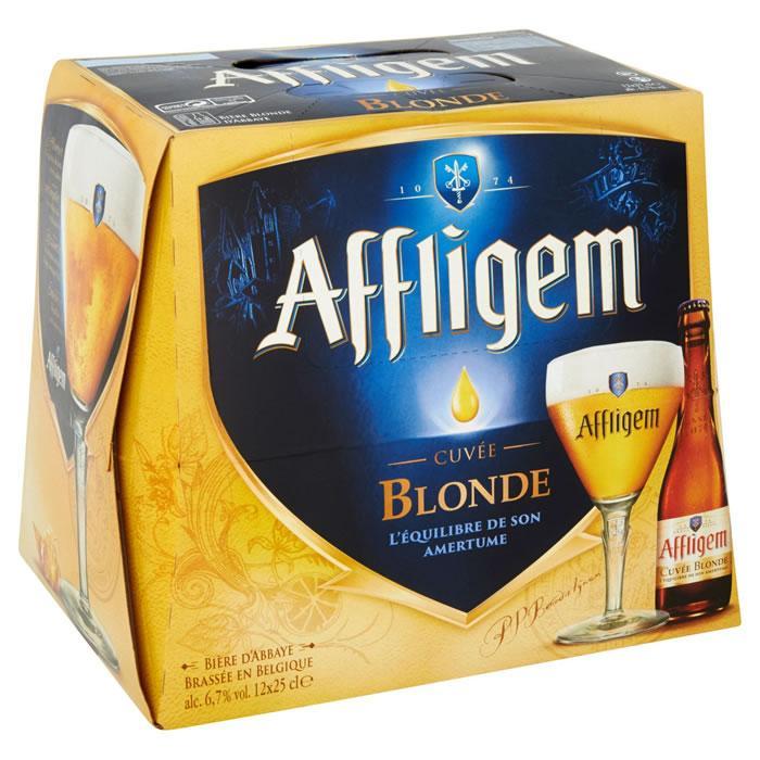 Pack de 12 bouteilles de bière blonde Affligem D'Abbaye (25 cl)