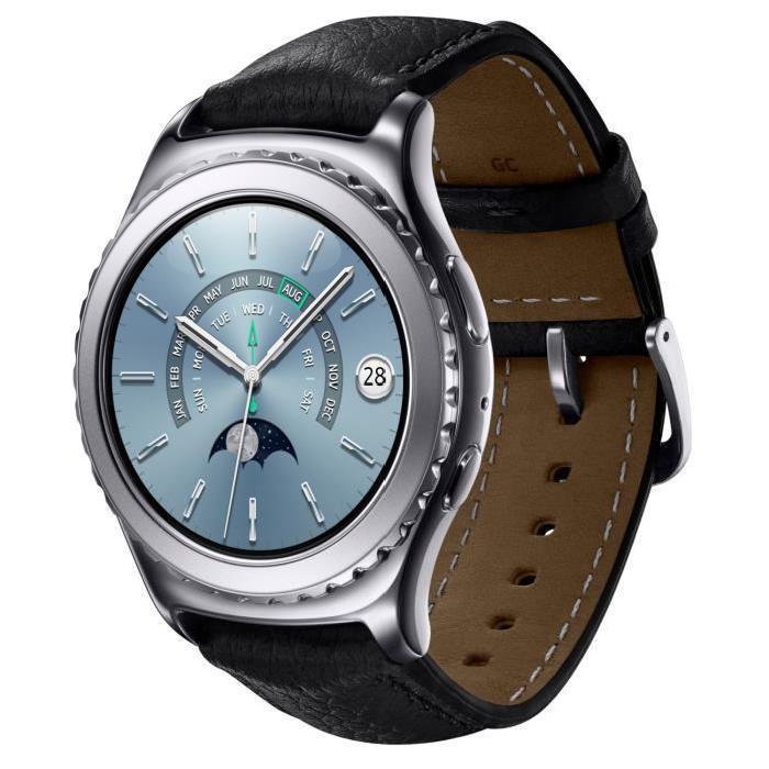 Montre connectée Samsung gear S2 classic Premium Platinum cuir (via ODR 100€)