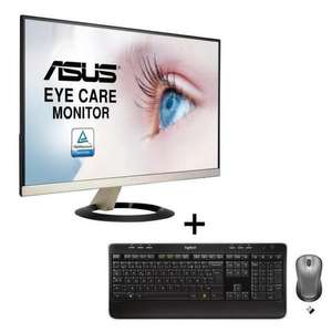 "Ecran 23"" Full HD Asus  VZ239Q - Dalle IPS‎‎ 5ms + Pack Clavier Souris MK520 Sans Fil Logitech"
