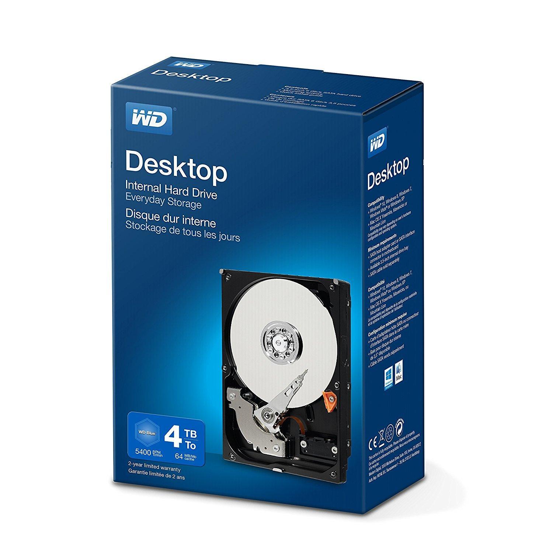 """Disque dur interne 3.5"""" Western Digital Desktop Mainstream  - 4 To"""