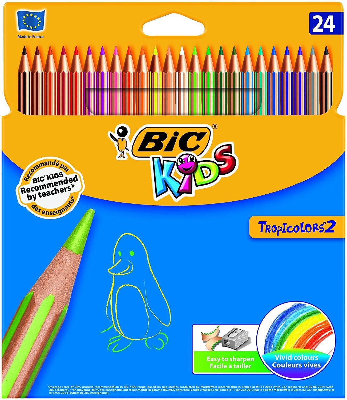 [Panier Plus] Lot de 24 crayons de couleur Bic