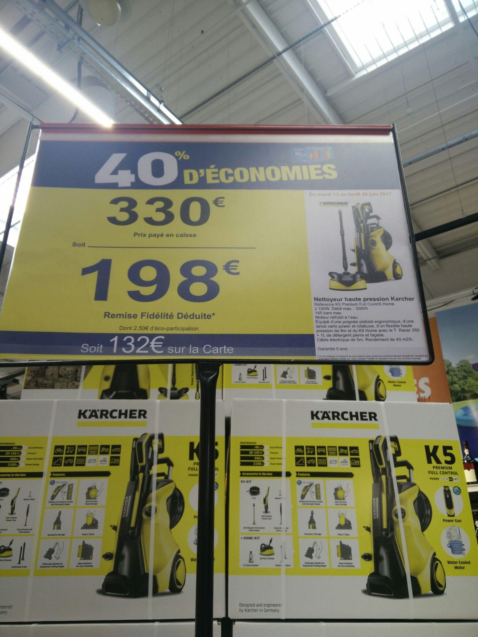 Nettoyeur haute pression Karcher K5 Premium Full Control (via 132€ sur la carte)