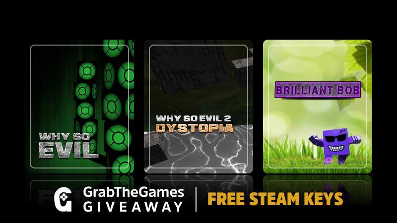 Pack de 3 jeux Steam gratuits : Why So Evil 1 et 2 + Brilliant Bob (Dématérialisé - Steam)