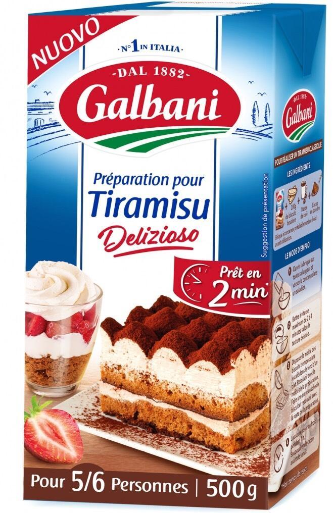 Préparation pour tiramisu Galbani - 500g (via BDR + Shopmium)