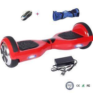 Skateboard électrique Rouge vendu avec sac de transport et télécommande