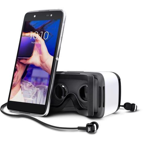 """Smartphone 5.2"""" Alcatel Idol 4 Gris Dual Sim - IPS FHD, Snapdragon 617, 3 Go de RAM, 16 Go + Casque VR (via 100€ sur la carte fidélité)"""